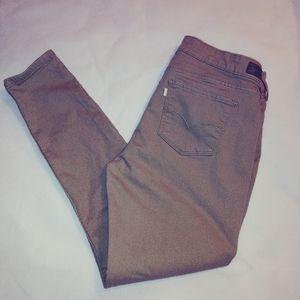 Levi's Tan Stretch Denim Skinny Jeans/Leggings